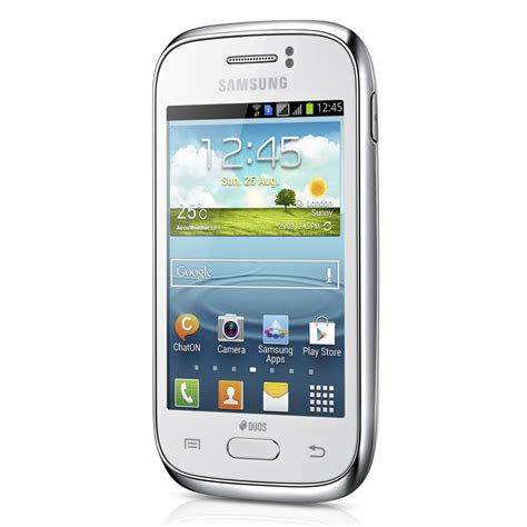 mobile samsung smartphone samsung galaxy gt s6312 blanc mobile smartphone