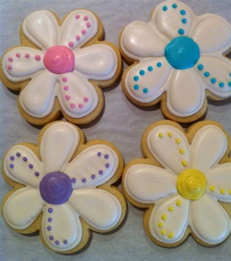 Simple Cake Decorating Ideas For Beginners Daisy Spring Flower Decorated Sugar Cookies 1 Dozen 12
