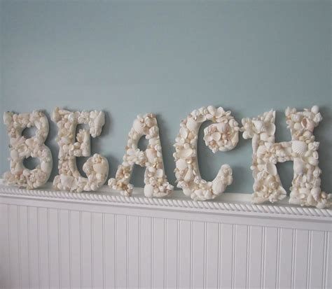 Shell Decorations by Decor Seashell Letters Nautical Shell Letters