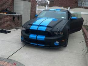 matte black w gloss grabber blue stripes cars and