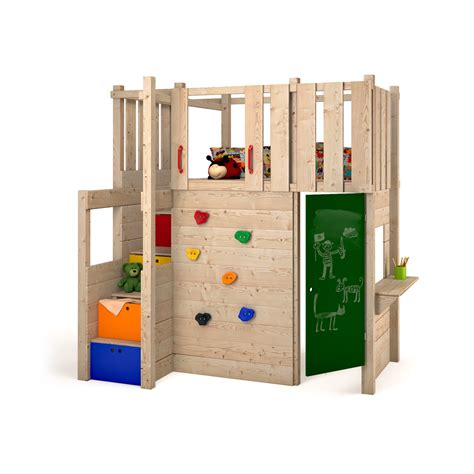 futon kinder indoor play tower loft bed wardrobe climbing wall