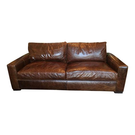 restoration hardware maxwell leather sofa restoration hardware maxwell leather sofa orig