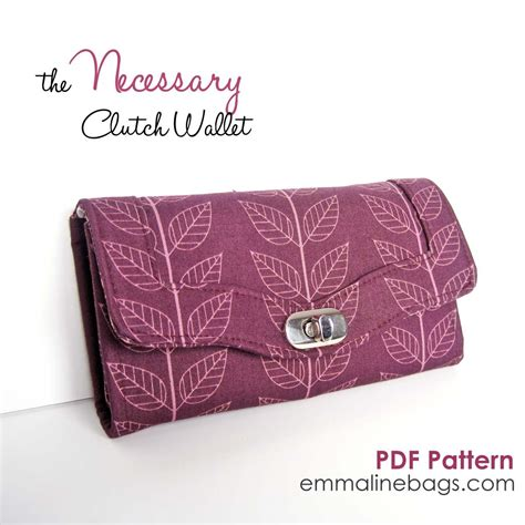 paper bag clutch pattern necessary clutch wallet paper pattern by emmaline bags