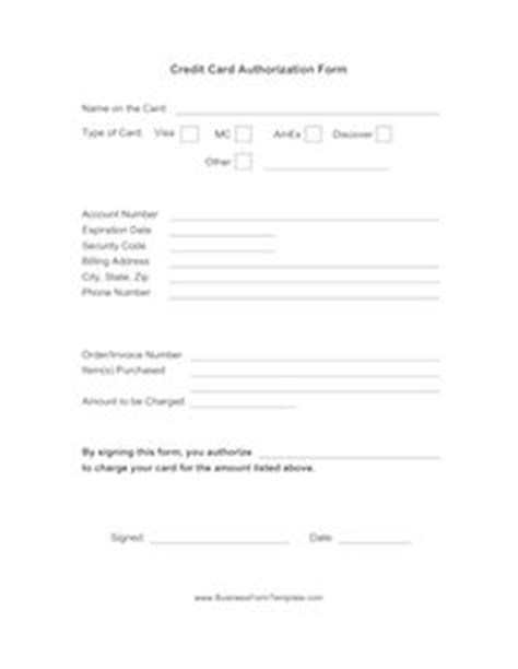 Credit Card Authorization Form Template For Dental Office by 1000 Images About Community Center 24hour Daycare And