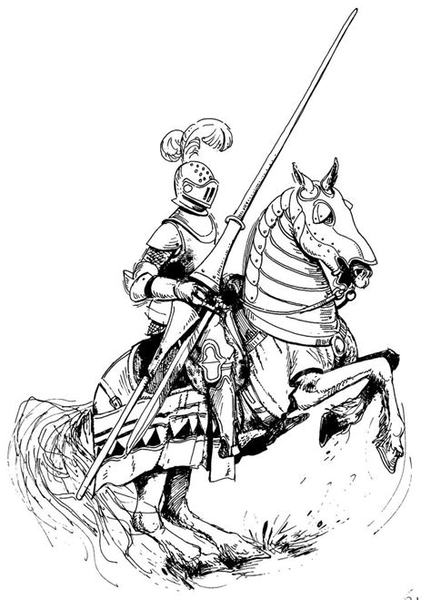 coloring page of knight in armor 17 best lancer images on pinterest knight knights and