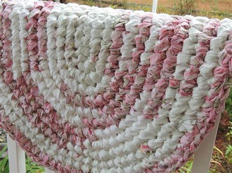 crochet oval rag rug pattern oval crochet rag rug quot the pink ballerina quot made of white pink hints