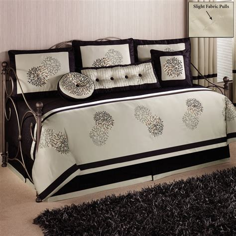 daybed bedding set gray stained wooden trundle daybed with white and