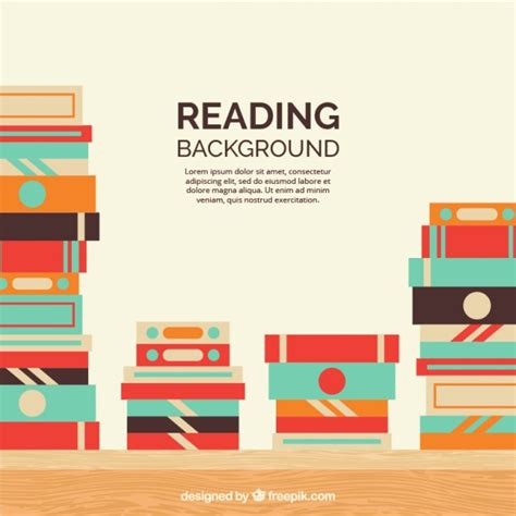 background design book piles of books background in flat design vector free
