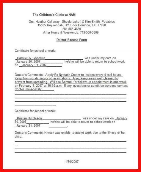 Urgent Care Doctors Excuse Apa Exle Urgent Care Doctors Note Template