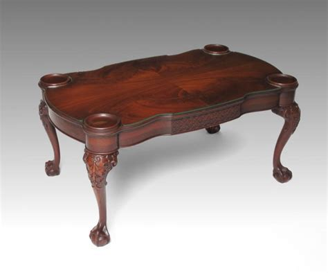 Claw Foot Coffee Table 238b Mahogany And Claw Foot Coffee Table Lot 238b
