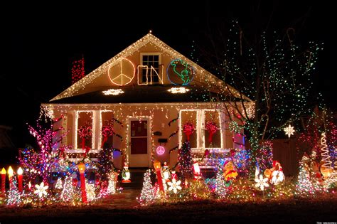 pictures of homes decorated for christmas on the inside tacky christmas lights displays photos videos huffpost