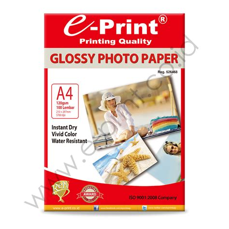 Glossy Photo Paper 120gsm A4 Coral 1 glossy photo paper a4 120gsm 100sheet e print