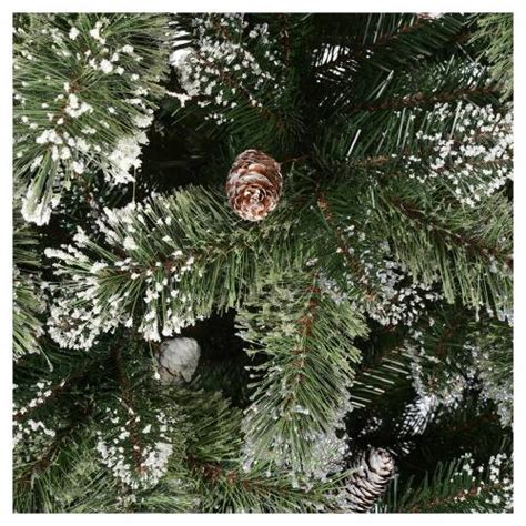 bristle table christmas tree with picks cones green christmas tree 210 cm green with pine cones glittery