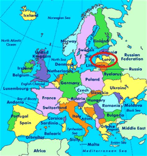 where is latvia on a map latvia world map location