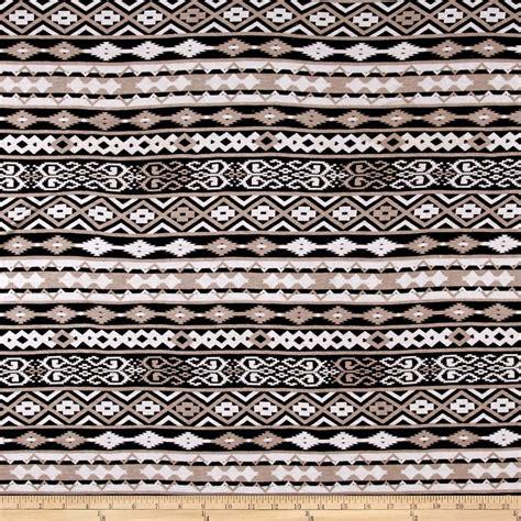 black and white aztec pattern fabric jersey knit aztec stripe print tan black white discount