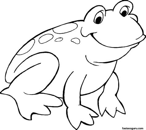 Smiling frog coloring page printable coloring pages for kids