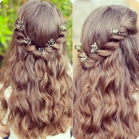 flower girl hairstyles half up half down 5 latest best braided fishtail hairstyles to inspire you