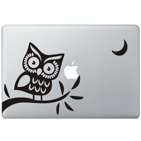 Sticker Macbook Owl owl 2 macbook decal kongdecals