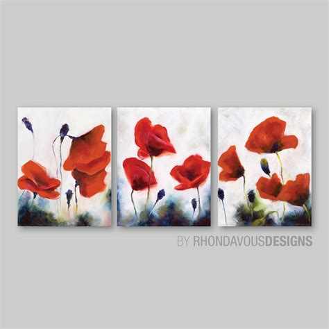 wall paintings red poppy wall art red poppy painting reprint home decor