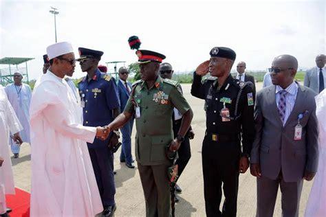 president weekend photos president buhari travels to katsina state for the