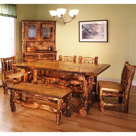 log dining room sets how to make your own furniture on pinterest log