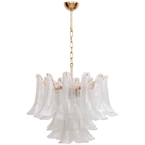 Chandelier Base Large Murano Chandelier With Gold Plated Base Italy 1970s For Sale At 1stdibs