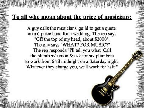 Quote For Plumbing Work by Quotes From Musicians Quotesgram