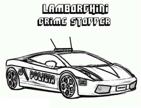 cop car pages coloring pages
