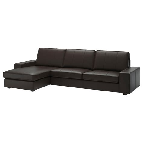 ikea kivik sofa with chaise kivik 4 seat sofa with chaise longue grann bomstad dark