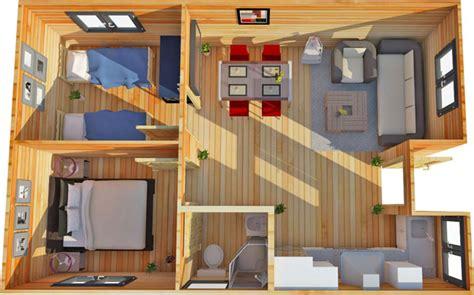 2 Bedroom Garden Annex The Bothy A 2 Bedroom Log Cabin Annex