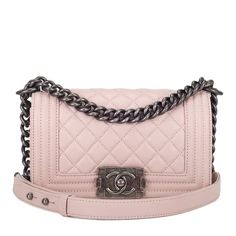 light pink chanel bag chanel light pink quilted lambskin small boy bag s