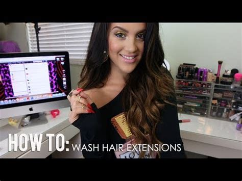 how to wash clip in hair extensions how to wash clip in hair extensions
