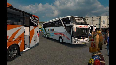 game ets2 mod bus indonesia budiman shd scania ets2 bus mod indonesia youtube