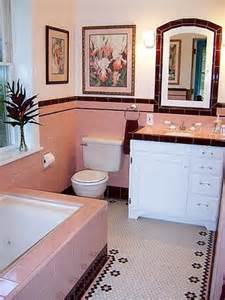 Pink Bathroom Color Schemes - banheiro anos 60 camila bueno