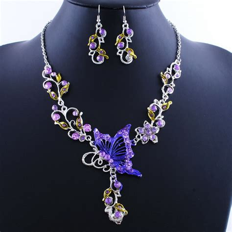 Butterfly Set butterfly necklace earrings jewelry set