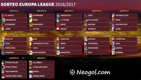 Calendario Europa Calendario Europa League 2016 2017 Fixture Completo