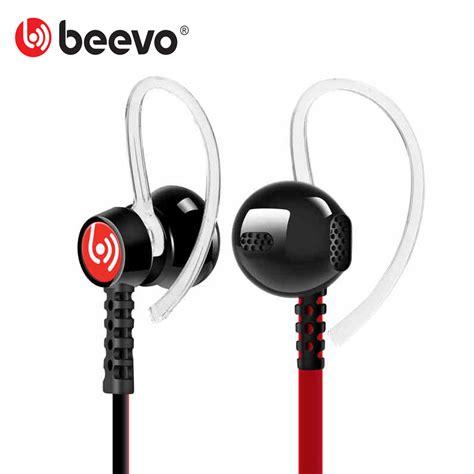 Beevo Earphones Clear Bass Earphone Sports Headset With Diskon sport running headphones waterproof sweatproof earphones bass headset ear hook earbuds stereo