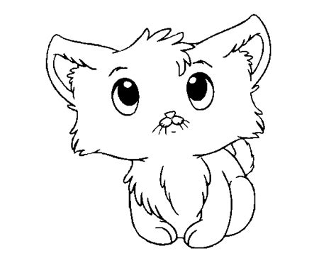 free coloring pages of gatito chibi