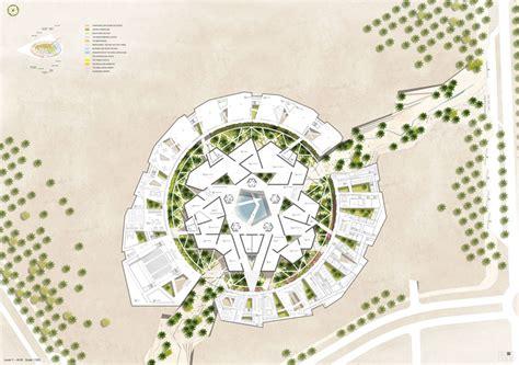 Target Center Floor Plan by Gerber Architekten Awarded For Noble Quran Oasis Proposal