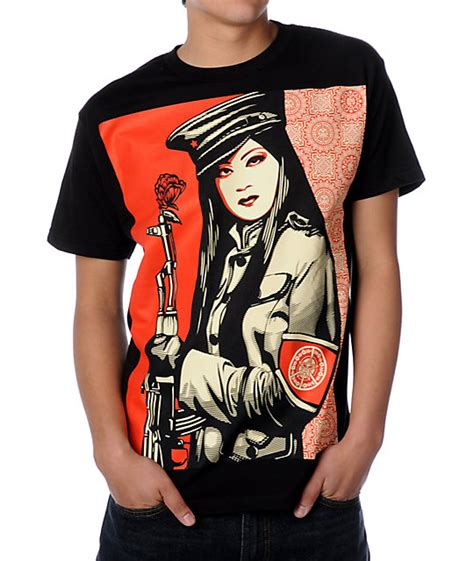 Kaos T Shirt Obey Exclusive obey peace guard black t shirt