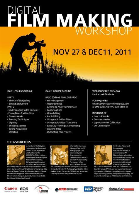 werkstatt poster filmmaking workshop jpg 679 215 960 pixels photography