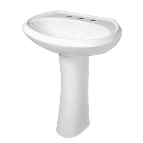 gerber maxwell pedestal combo bathroom sink in white g0022518 the home depot