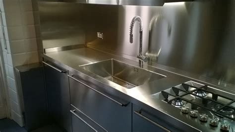 cucine acciaio cucina acciaio inox borlina acciaio