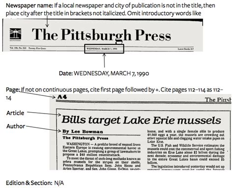 layout of an online article how to cite a newspaper in mla easybib blog