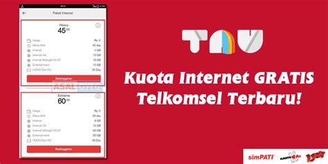 trik gratisan telkomsel januari 2018 trik dapat kuota internet gratis telkomsel terbaru 60gb rp0
