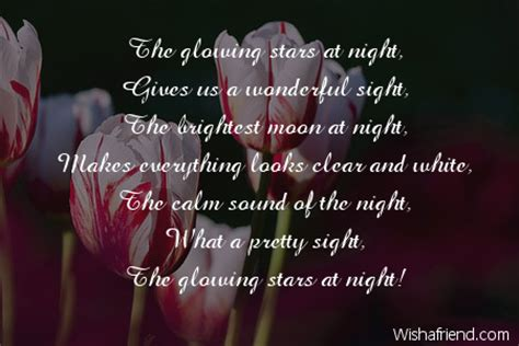 What Makes A Good Home Glowing Stars Nature Poem