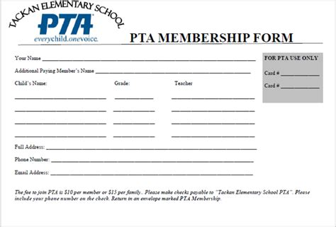 Nys Pta Membership Card Template tackan pta as we work to update the website for the 2015