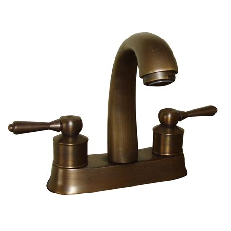 faucet antique brass classic bathroom sink centerset 2 lever