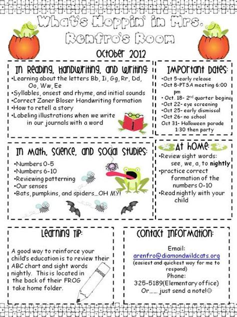 Kindergarten Parent Letter Template Best 25 Kindergarten Newsletter Ideas On Parent Newsletter Template Preschool