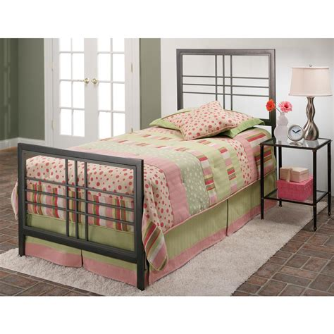 Pewter Bed Frame Hillsdale Furniture Tiburon Magnesium Pewter Bed Frame 1334btwr The Home Depot